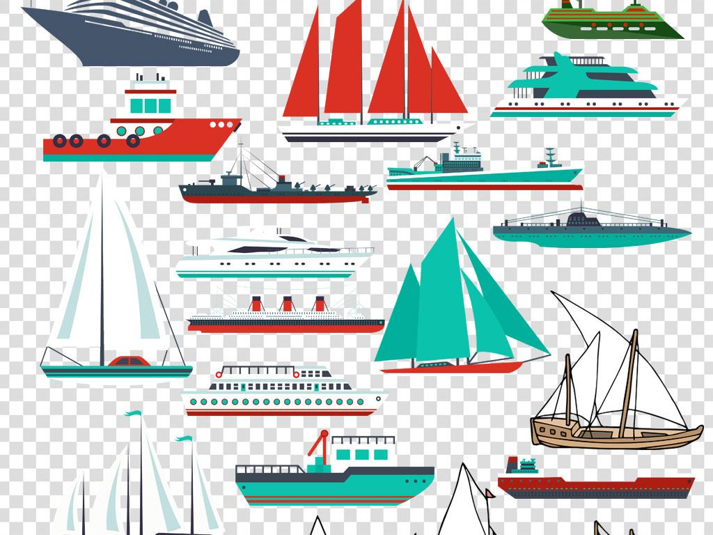 帆船手绘轮船货轮素描轮船线稿企业文化帆船插画帆船卡通素材轮船船帆