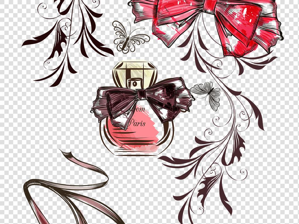 手绘化妆品彩妆手绘素材彩绘素材复古