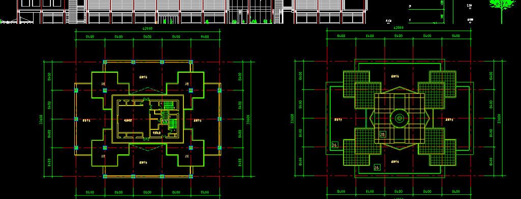 两套商场cad建筑设计图