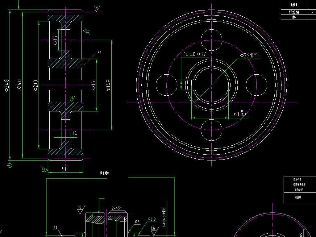 图纸机械零件cad图块图集图例设计方案节点祥图大样图平面布置图安装