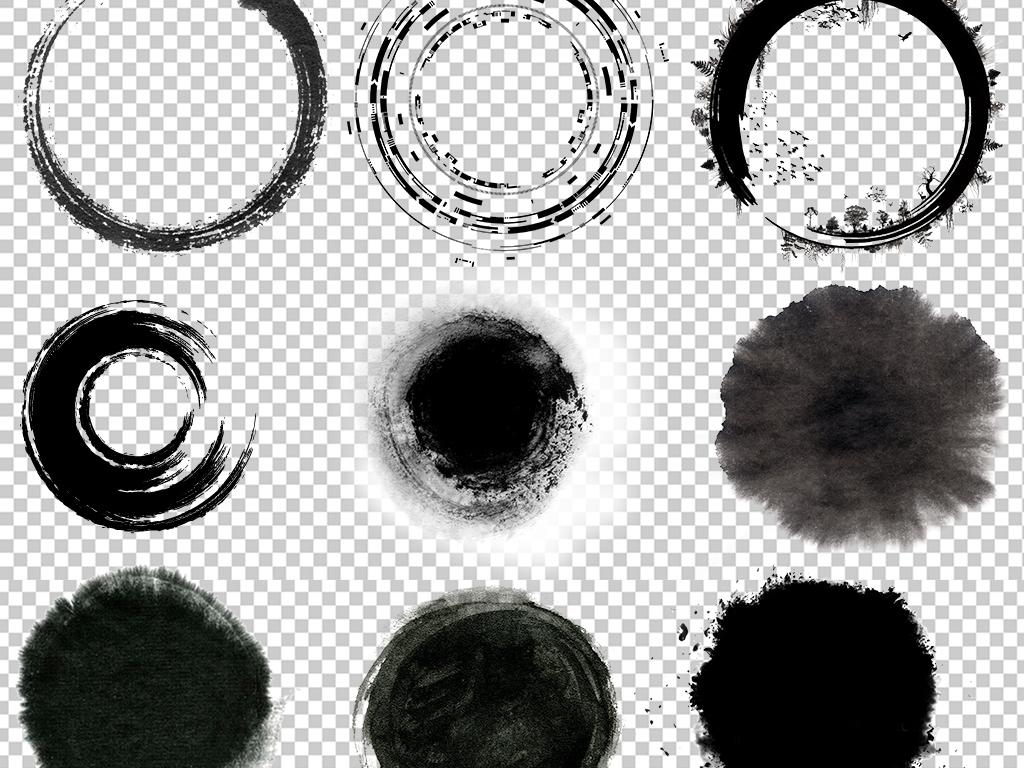 中国风水墨圆形圆环边框圆圈图片素材图片下载psd素材图片
