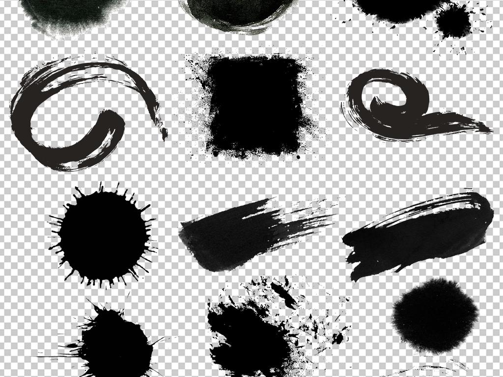 中国风水墨圆形圆环边框圆圈图片素材