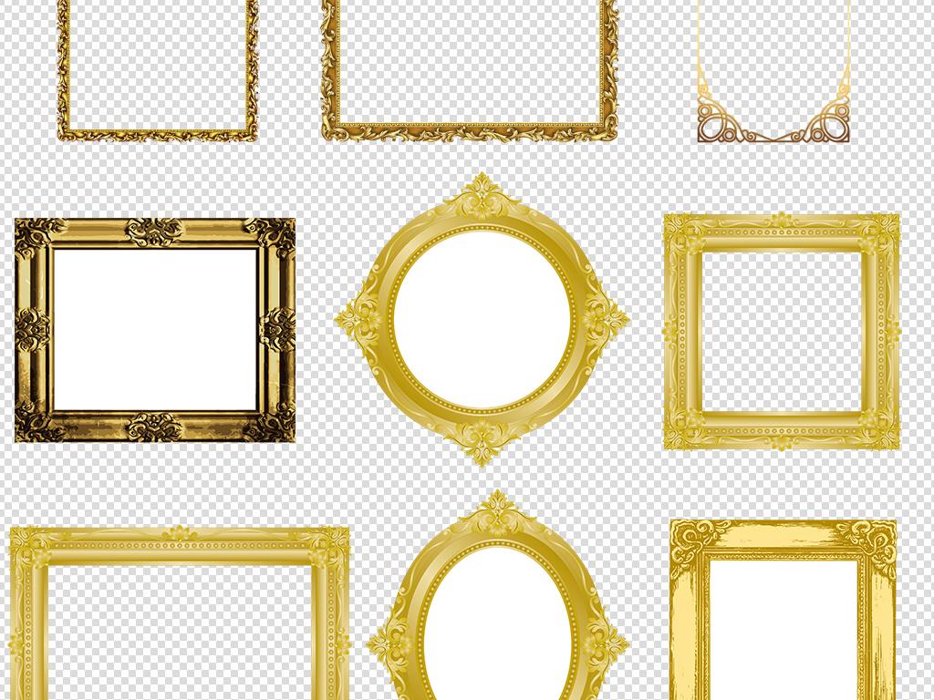 古典花边相框边角实木边框ps相框模板相框素材
