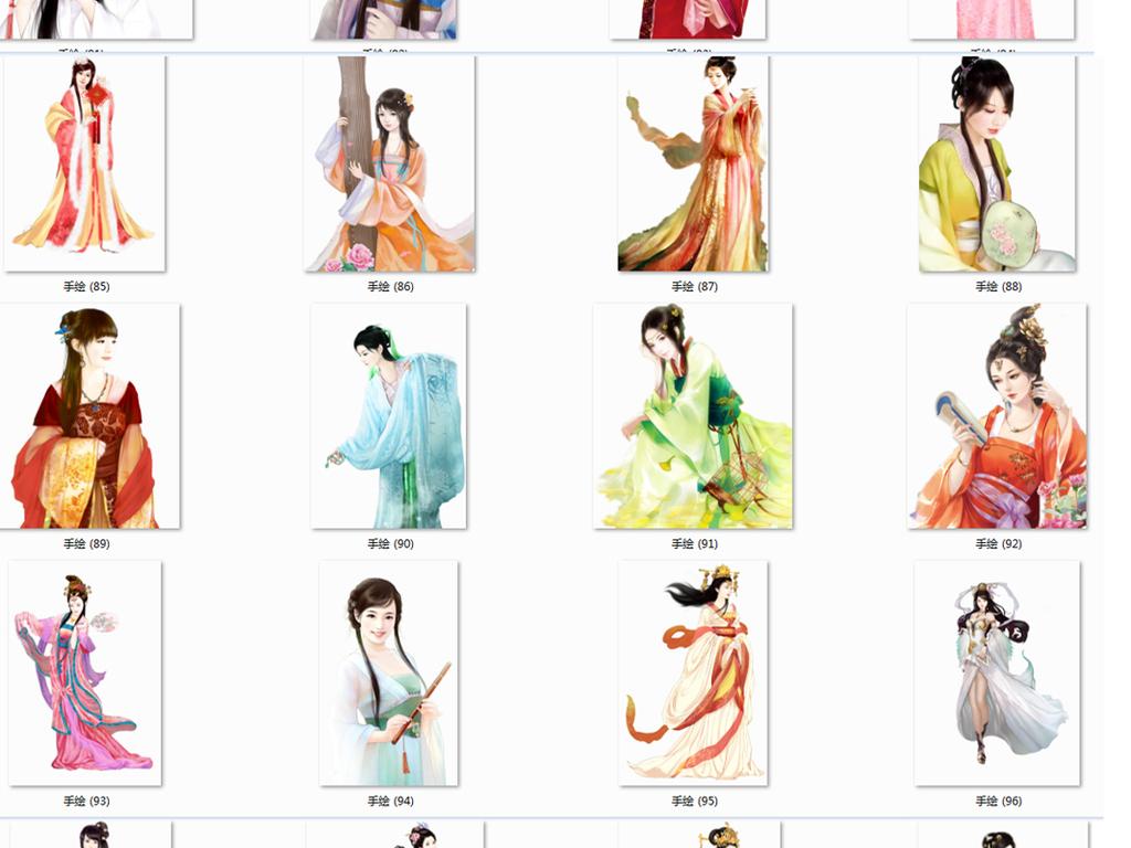 古风美女古代美女图片古代四大美女图片古代美女图中国古代美女图手绘
