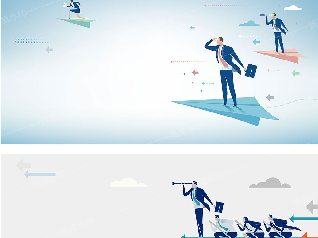 扁平化金融风险投资海报背景素材下载,作品模板源文件可以编辑替换