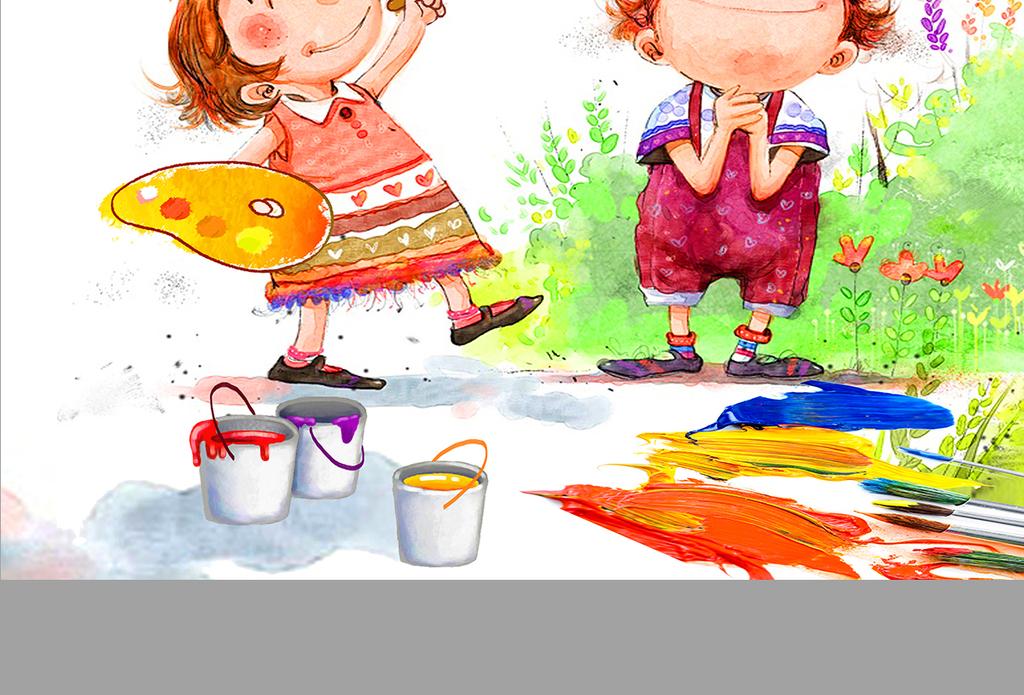 少儿美术培训班海报儿童画画DM宣传单