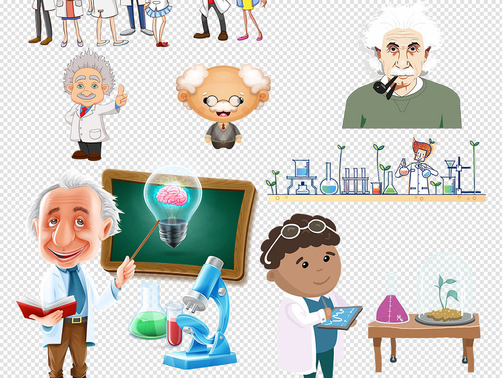 手绘人物疯狂科学地球仪老师著名科学家科学家专栏科学家展板古代科学