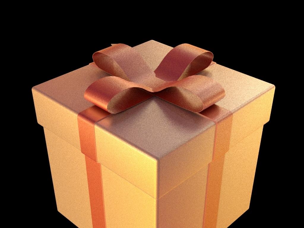 maya2017礼物盒子箱子彩带三维模型礼品