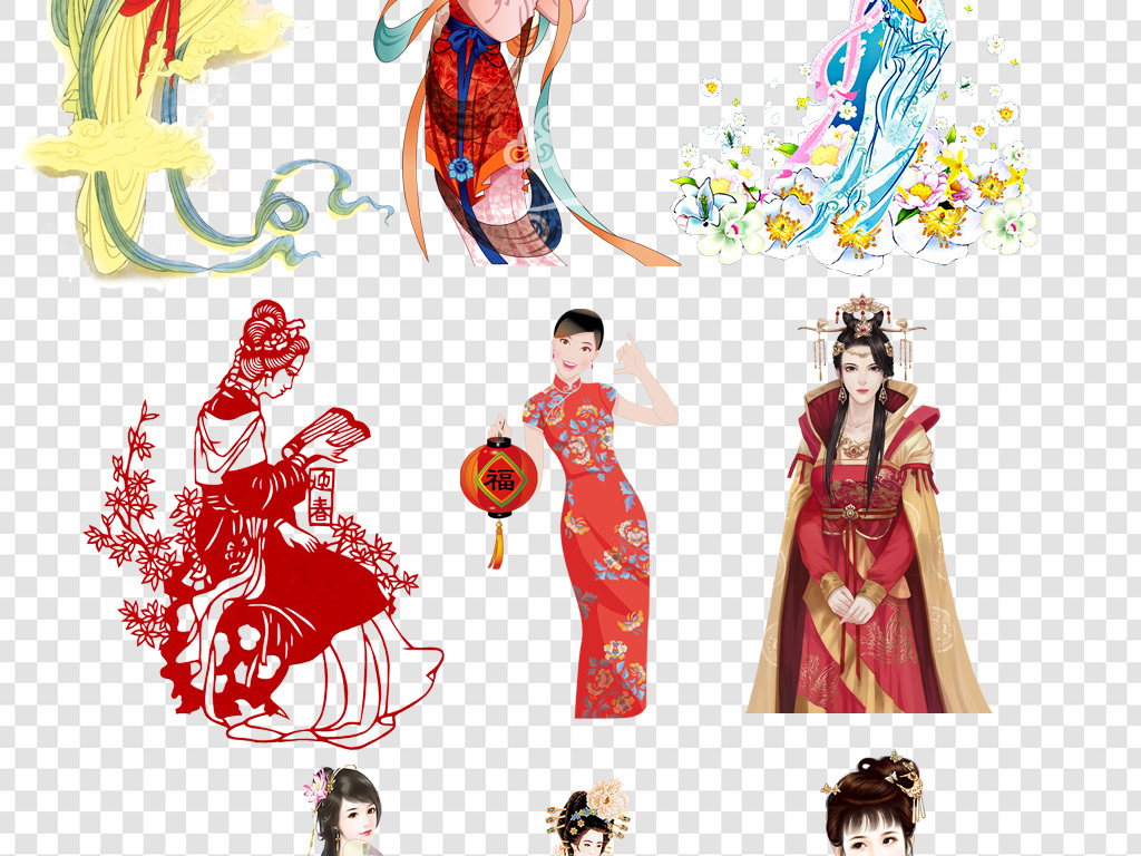 古代服饰古典杨贵妃古代四大美女美女传统古风美女古风素材美女素材