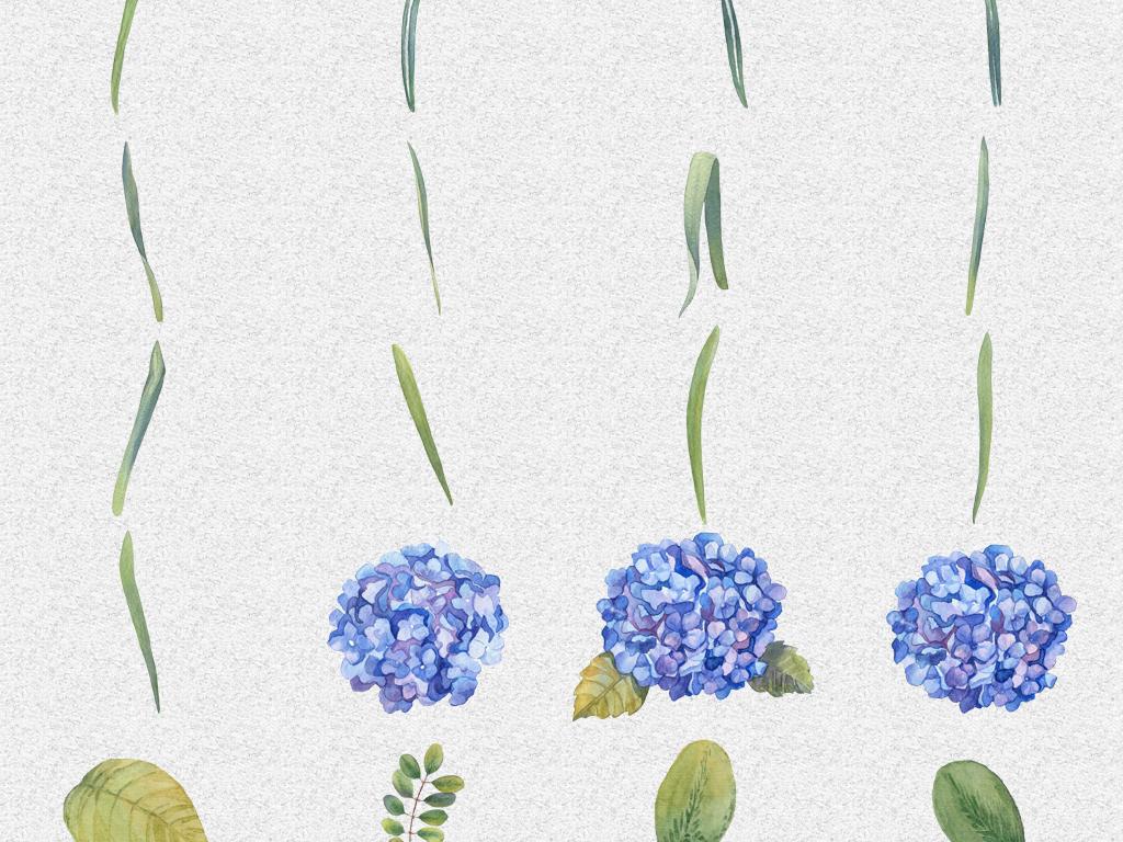 花瓣叶子水彩植物手绘花朵素材手绘叶子水彩植物植物素材多肉植物免抠