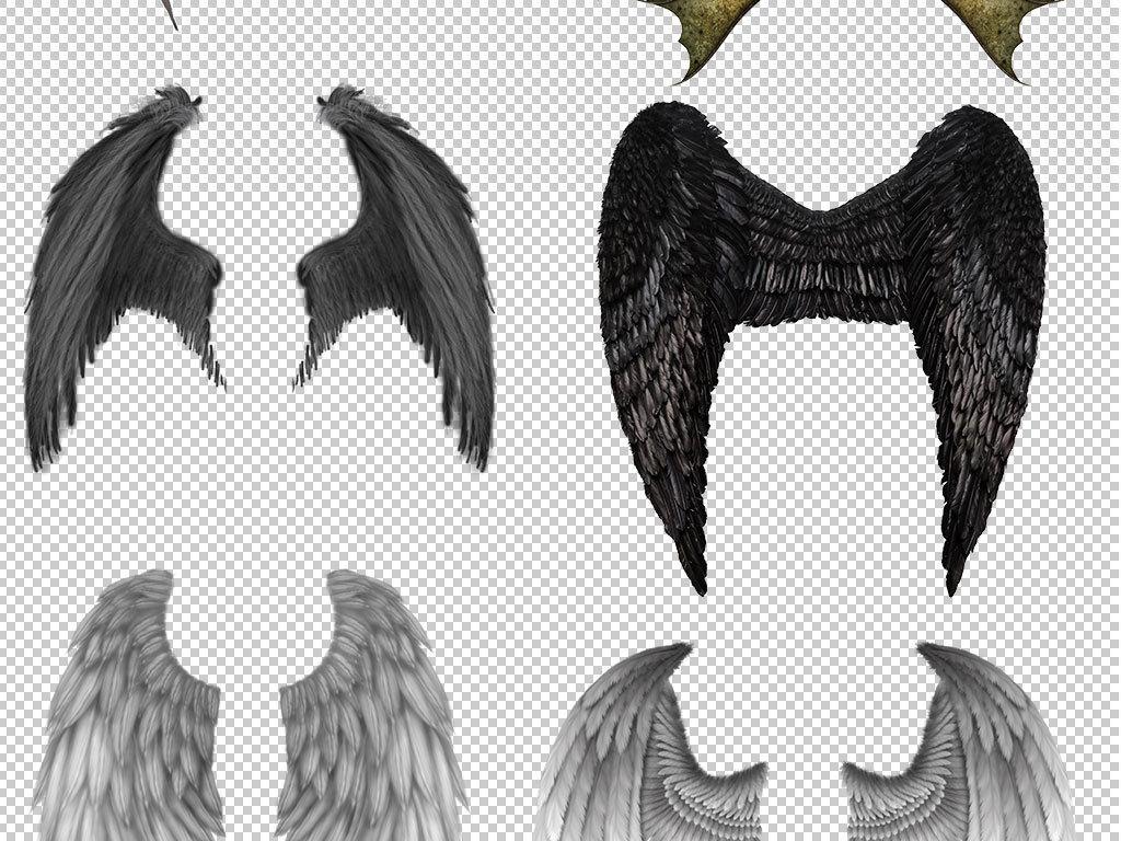卡通手绘天使的翅膀图片素材图片
