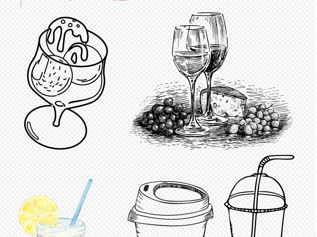 饮品图片简笔画
