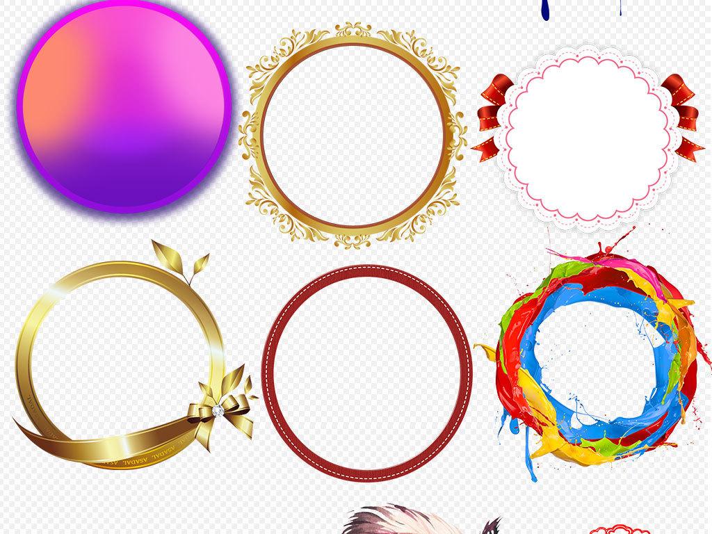 水墨中国风圆环圆形边框圆圈图片背景素材图片