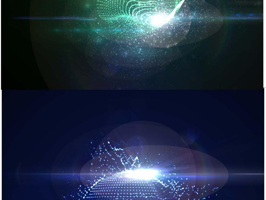 信息数据科技科幻感光效背景矢量图案元素