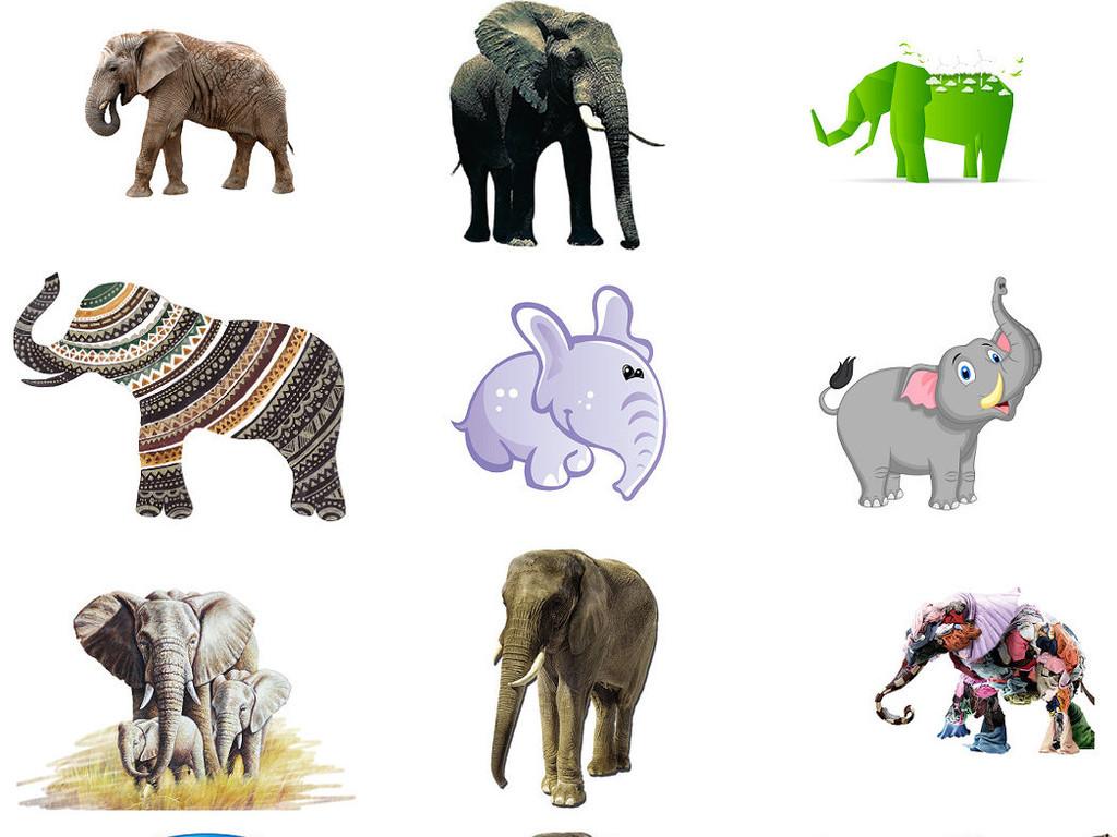 唯美手绘插画大象免抠png透明素材4(图片编号:)_效果