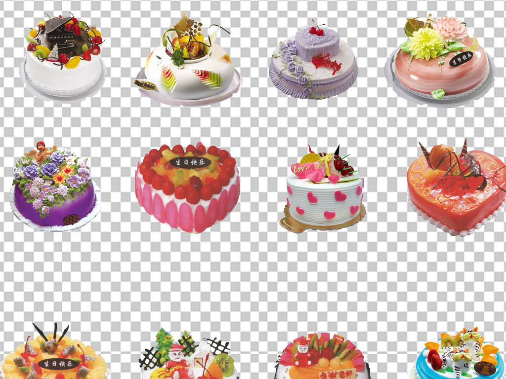 png)                                  生日蛋糕卡通图片