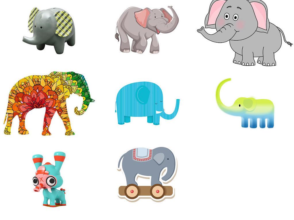 动物大象免抠png透明背景素材3