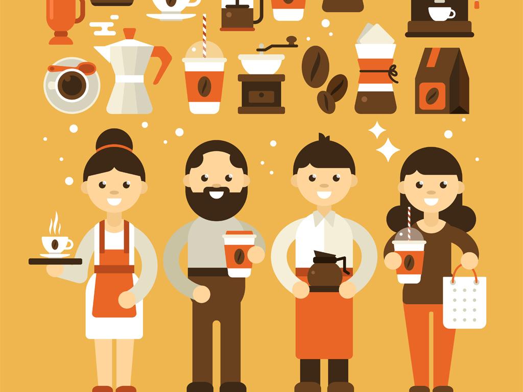 服务员                                  人物咖啡