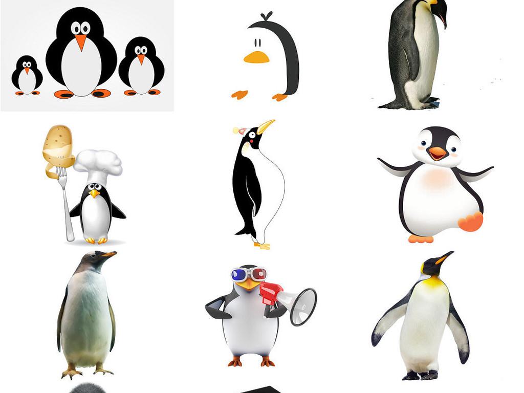 卡通企鹅北极企鹅南极企鹅图片素材3