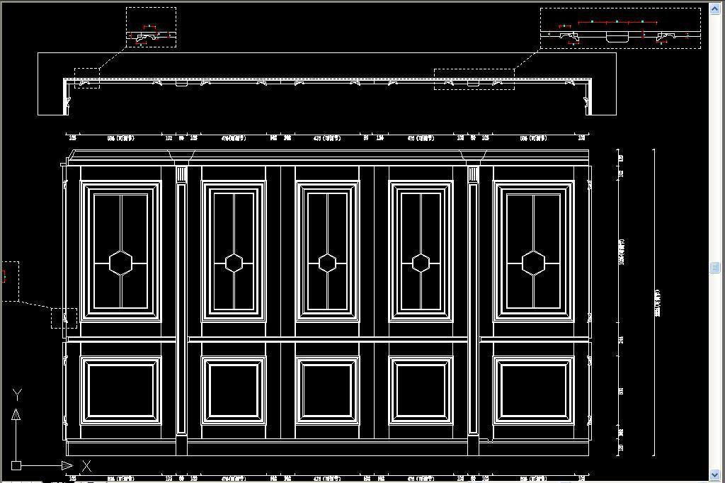 cad图库 室内设计cad图库 cad图纸 > 标准护墙板cad设计图集