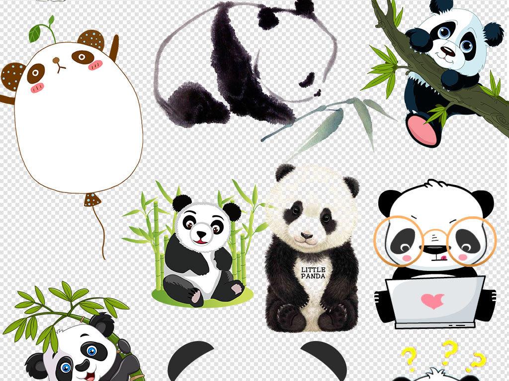 手绘熊猫电脑壁纸