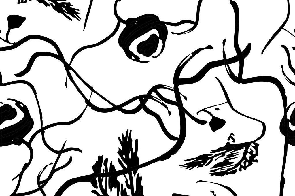 植物花卉图案手绘几何线条图形花草印花