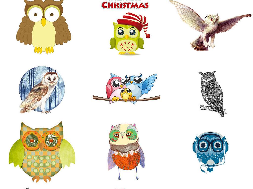 卡通猫头鹰免抠png图片3图片