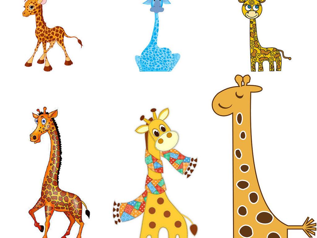 卡通彩色长颈鹿简笔画图片2