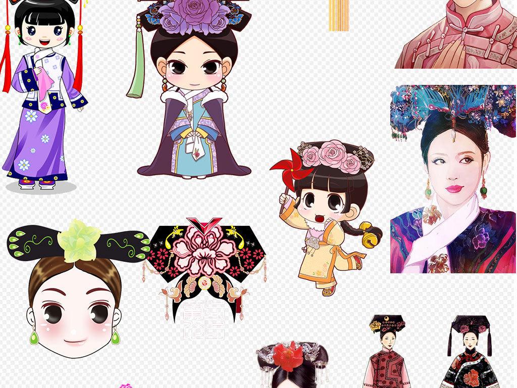 中国古装美女古典女人图片设计元素