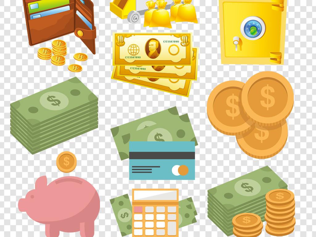 金融经济财富图标png素材