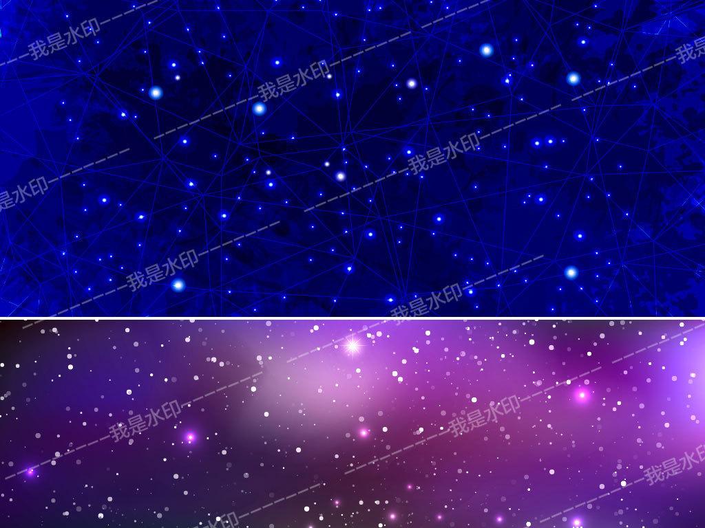 设计作品简介: 璀璨闪耀梦幻星空宇宙背景 矢量图, rgb格式高清大图