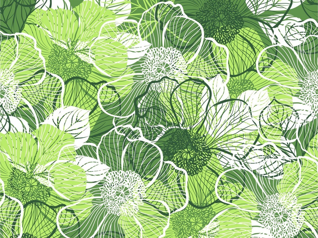 植物花卉蕾丝花朵连衣裙印花刺绣ai图案