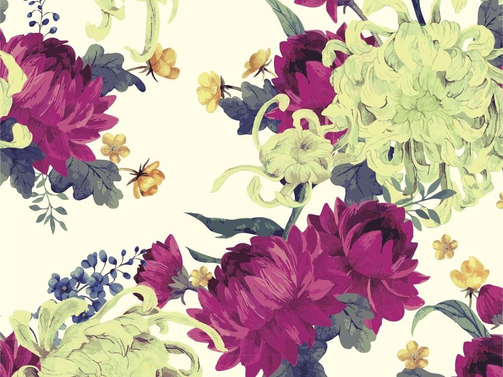 植物花卉花卉图案面料印花图案家纺设计花型