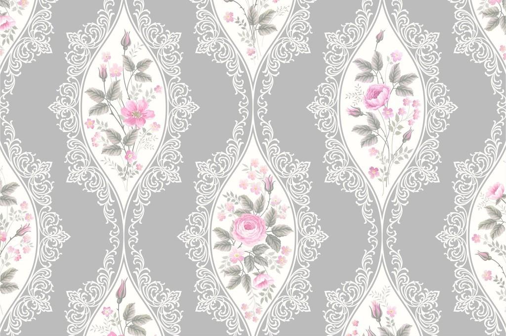中式花纹印花植物花卉图案印花玫瑰花草印花图片