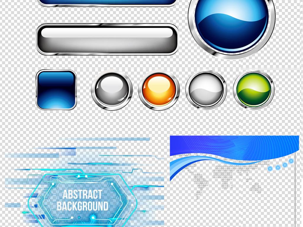 实用科技边框png素材图片