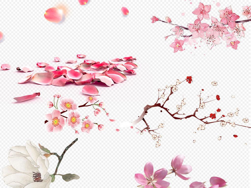 花瓣桃花樱花玫瑰花唯美花瓣素材