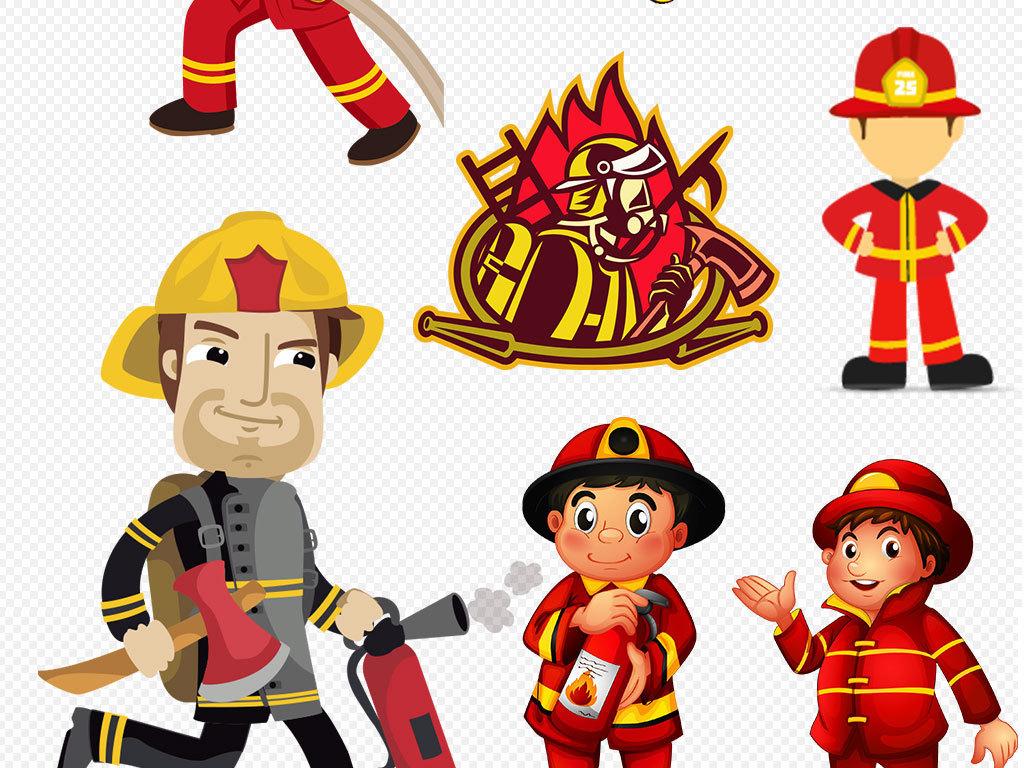 设计元素 人物形象 帅哥 > 卡通消防员消防安全消防警钟图片素材