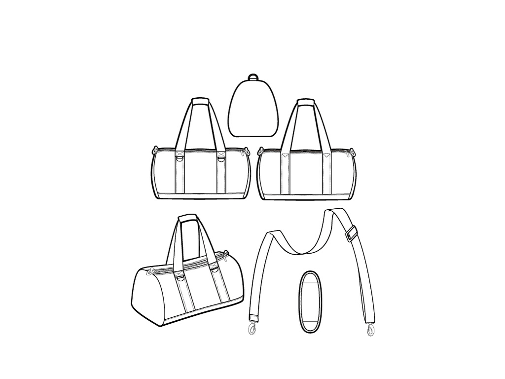 男士手提包简笔画-手提袋 16636485 男包设计