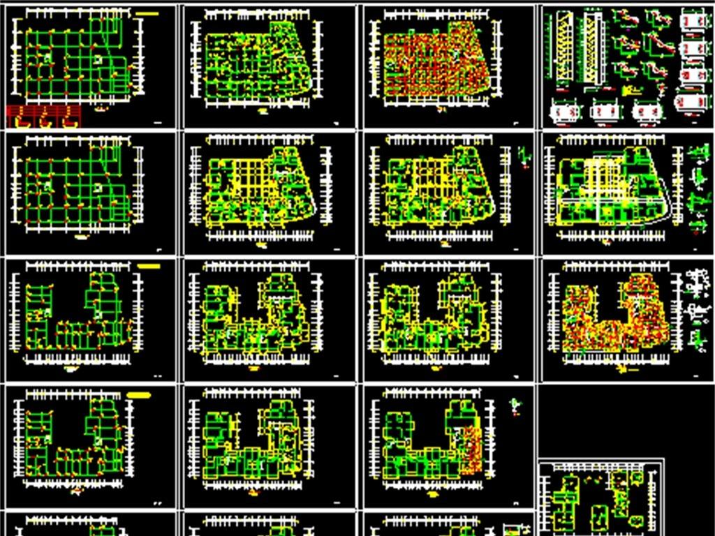 住宅平面图设计图一梯两户展示