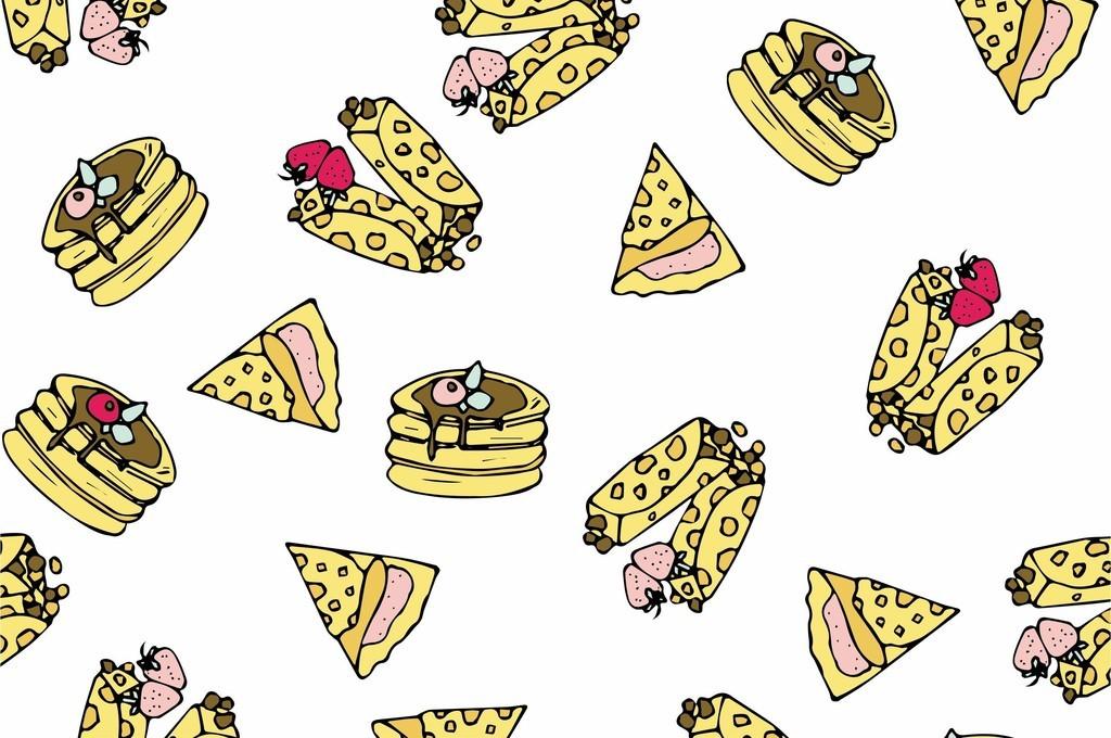 食物卡通画服装素材创意
