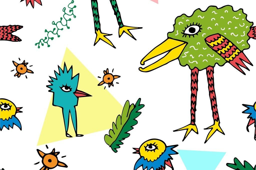花型动物几何图形卡通动物素材卡通素材规则图形素材素材卡通卡通小