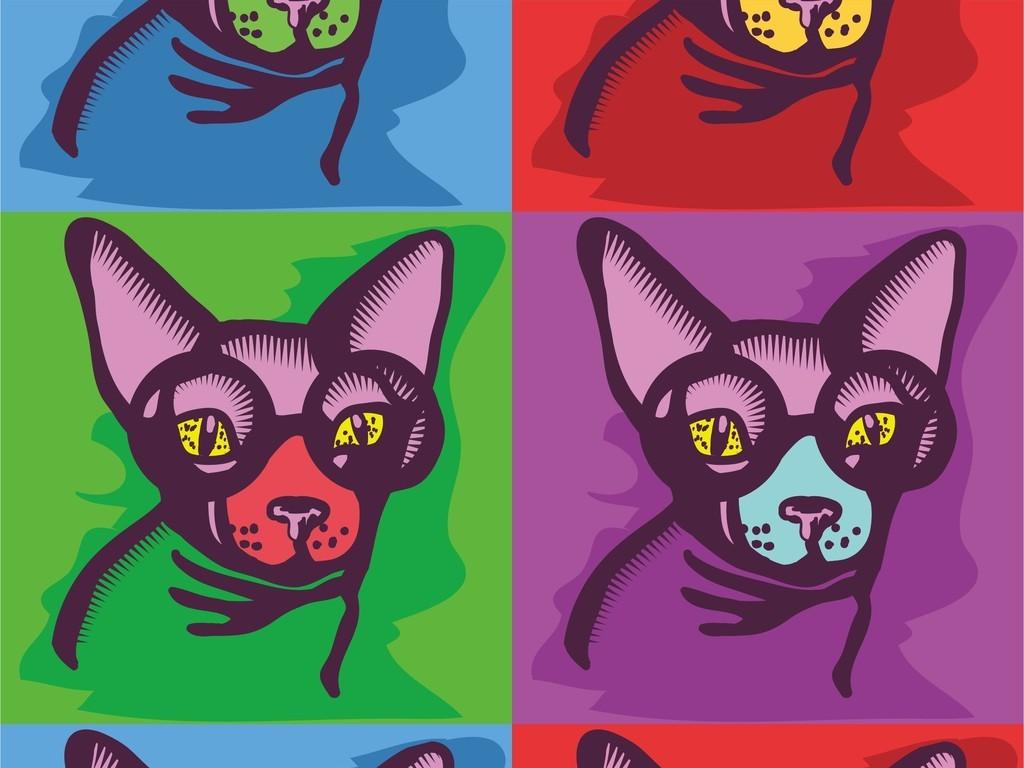 卡通动物狗印花图案手机壳设计