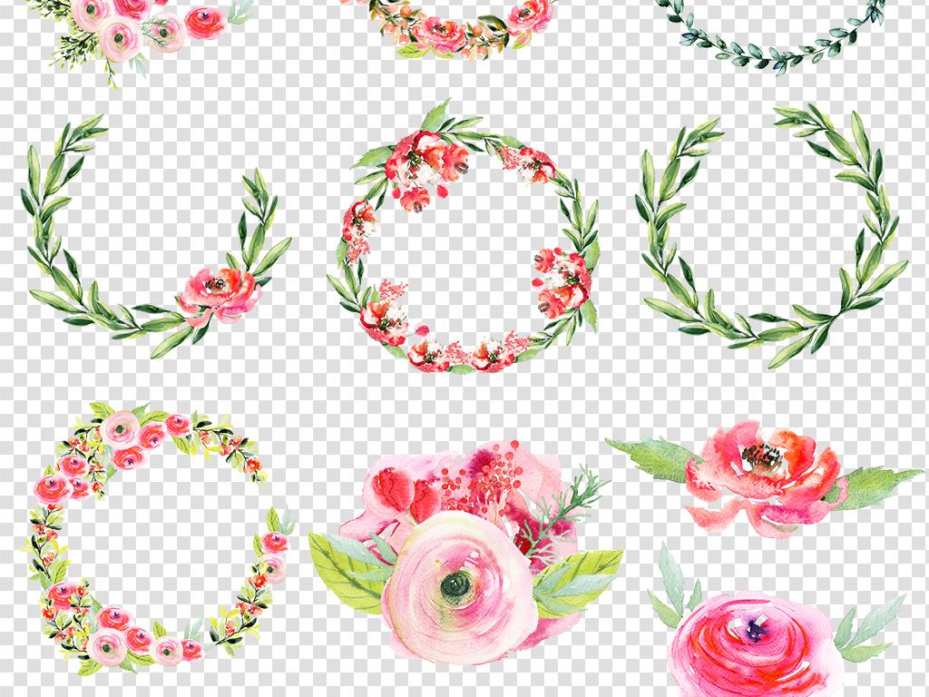 彩绘素材                                  手绘花环
