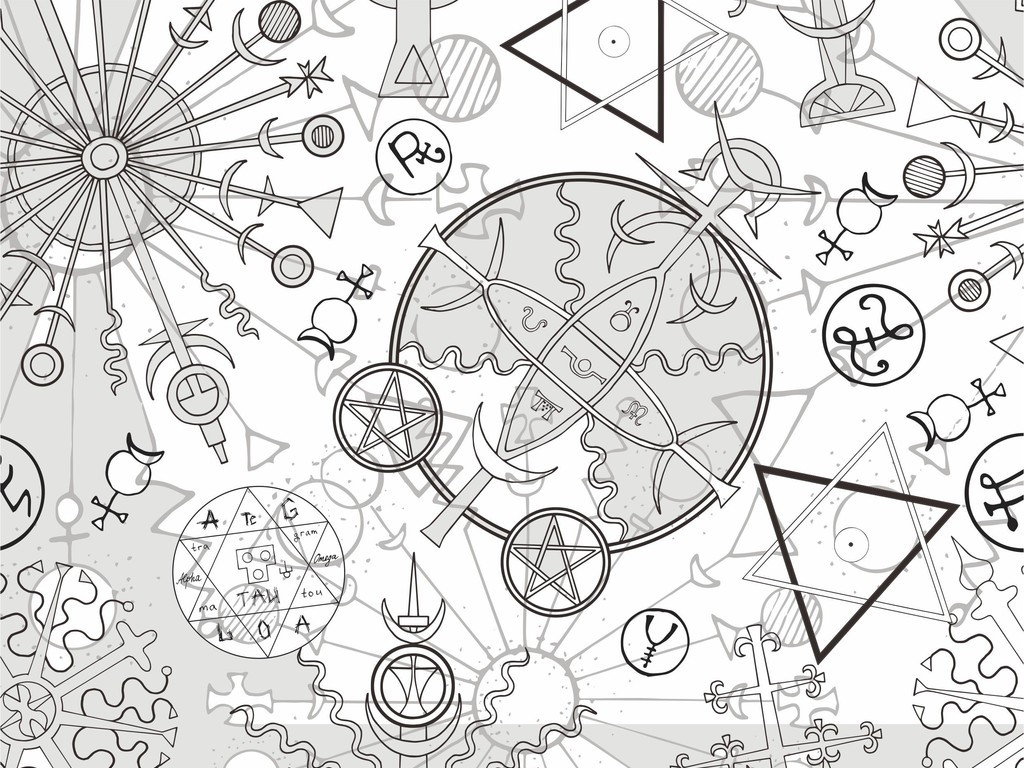 艺术几何图案设计矢量图印花素材