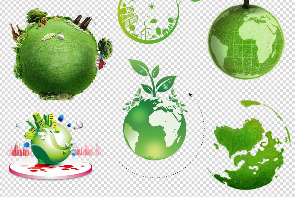 绿色家园手绘图