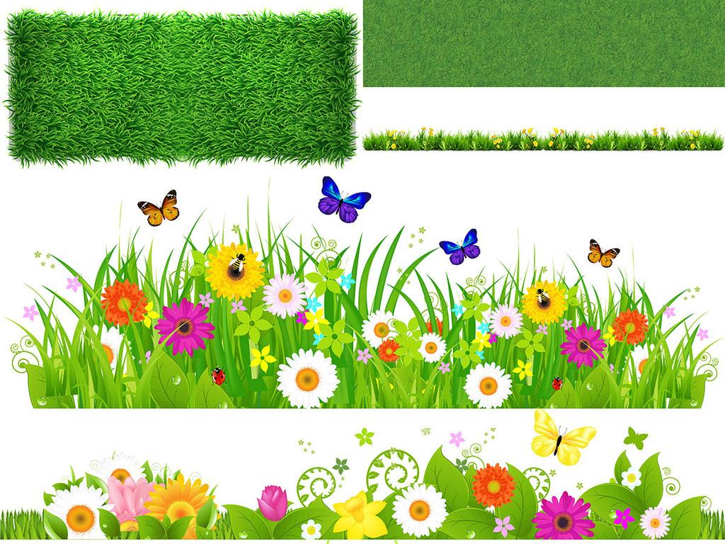 设计元素 自然素材 其他 > 高清清新绿色草地草坪草丛春天图片素材图片