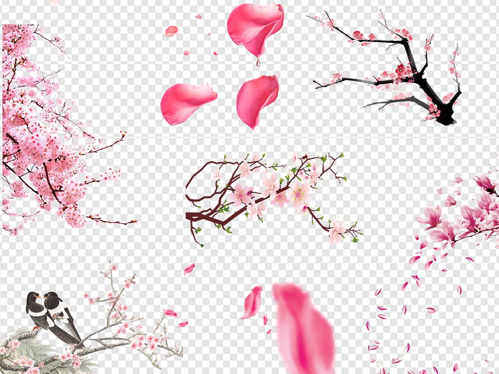 梅花樱花手绘花粉色花花桃花花朵浪漫樱花浪漫花朵粉红色浪漫梅花桃花