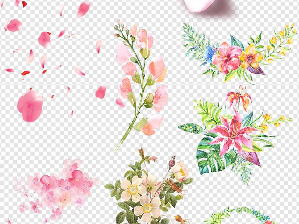 手绘花朵玫瑰花图片花环粉色花卉粉色花花瓣花卉树叶花朵花卉花朵花朵