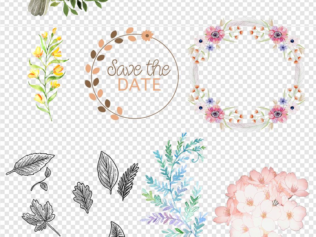 花藤卡通花饰装饰花桃花手绘花朵玫瑰花图片花环粉色花卉粉色花花瓣