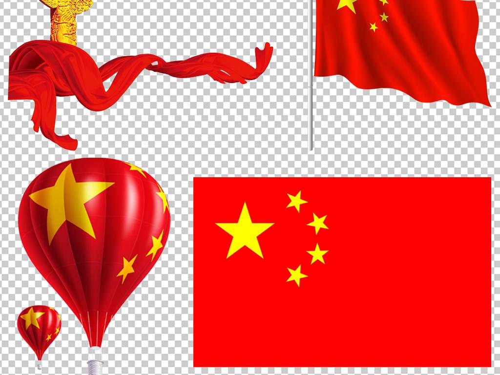 中国国旗天安门人民大会堂华表党徽背景素材